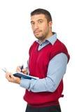 agendy wykonawczy mienia mężczyzna ołówek Obraz Stock
