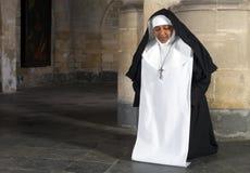 Agenouillement de nonne Images libres de droits