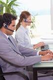 agentów centrum telefonicznego praca Obrazy Stock