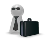 Agent with case Royalty Free Stock Photo