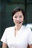 agent chinois de service de sustomer images libres de droits