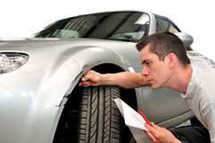 Agent d'assurance auto Photographie stock