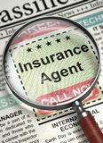 Agent d'assurance Join Our Team 3d Images stock