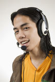 Agent de centre d'attention téléphonique image libre de droits