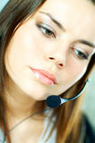 Agent de centre d'attention téléphonique Photos libres de droits