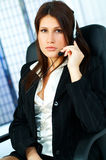 Agent de centre d'attention téléphonique Photo libre de droits