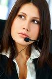 Agent de centre d'attention téléphonique Images libres de droits