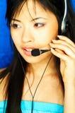 Agent de centre d'attention téléphonique Photographie stock