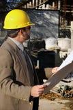 Agent de maîtrise de travailleur de la construction photos stock