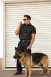Agent de police de sécurité Photographie stock libre de droits
