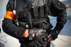 Agent de police tactique d'élément Photographie stock libre de droits