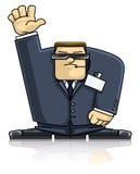 Agent de sécurité dans le procès et les lunettes Illustration Libre de Droits