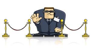 Agent de sécurité dans le procès et les lunettes Illustration de Vecteur
