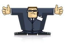 Agent de sécurité dans le procès et les lunettes Illustration Stock