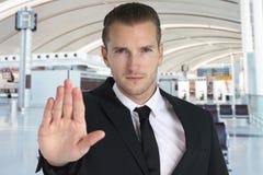 Agent de sécurité dans les aéroports Photo stock