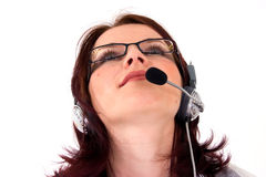 Agent de service à la clientèle envisageant l'avenir Images libres de droits