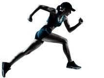Agent die van de vrouw jogger de loopt