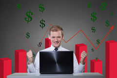 Agent financier Photo stock