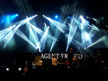 Agent Fresco live concert. 03 September 2016 - Bucharest, Romania. The band Agent Fresco singing live at Arenele Romane Stock Photo