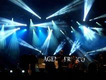 Agent Fresco live concert. 03 September 2016 - Bucharest, Romania. The band Agent Fresco singing live at Arenele Romane Royalty Free Stock Photo