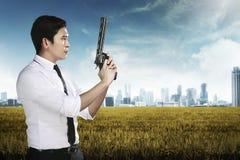agent gospodarstwa sekret broń Zdjęcie Stock