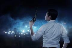 agent gospodarstwa sekret broń Fotografia Royalty Free