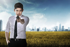 agent gospodarstwa sekret broń Zdjęcia Stock