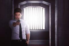 agent gospodarstwa sekret broń Fotografia Stock