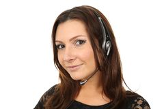 Agent heureux de callcenter Photos stock