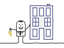 Agent immobilier et construction réels Photos libres de droits