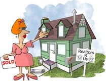 Agent immobilier femelle Photo libre de droits