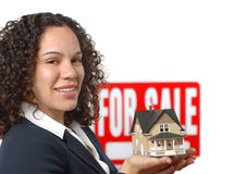 Agent immobilier réel Photos libres de droits