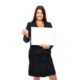 Agent immobilier réel affichant le signe Images stock