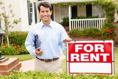 Agent immobilier réel au travail Photographie stock