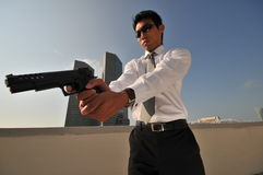 Agent/ Killer 38. Picture of Agent or Killer. Themed photography suitable for modern security, terrorism and police counter terrorist acts Royalty Free Stock Photos