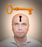The Agent. Man with locked head. Secrecy concept Royalty Free Stock Images