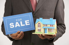 Agent with model house Royalty Free Stock Photo
