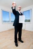 agent nieruchomości klucza real Fotografia Stock