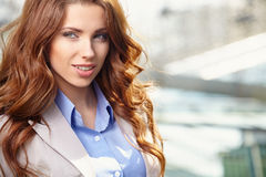Agent Nieruchomości kobieta Zdjęcia Stock