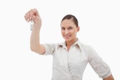 Agent nieruchomości mienia klucze Zdjęcia Stock
