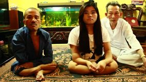 Agent Orange victims. SAVANNAKHET, LAOS, JULY, Agent Orange victims stock footage