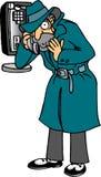 Agent on Phone. Secret agent on phone in overcoat Stock Illustration