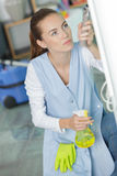 Agent pretending to be janitor. Agent pretending to be a janitor Royalty Free Stock Images