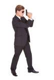Agent secret masculin Holding Gun Photo stock