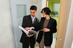 Agent showing a flat Stock Photography