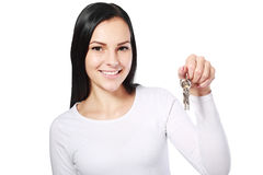 Agent showing keys Stock Images