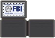 Agent spécial du portefeuille FBI Photos stock