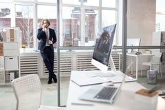 Agent w biurze Zdjęcie Stock