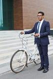 Agent z bicyklem Fotografia Royalty Free