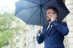 Agent z parasolem Obrazy Stock